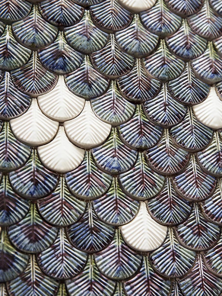 Botteganove 'Plumage' tiles. Photo: Balsamini