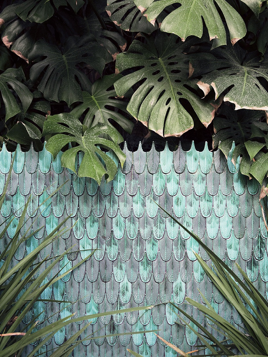 Botteganove 'Plumage' tiles. Photo: Balsamin.