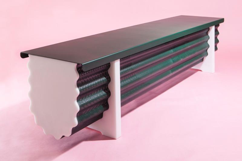 Studio Michael Schoner's 'Crest & Trough' bench, Masterly.