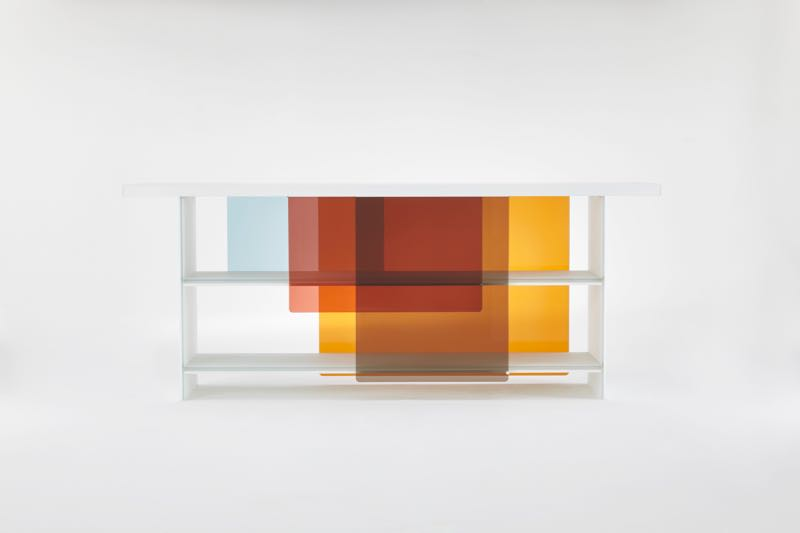 Nendo's 'Layers' cabinet for Glas Italia. Not brand new but available to the public for the first time.