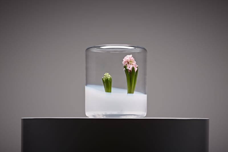 A 10 litre 'Glasgow' cloche in opal and clear crystal glass by Anna Weber.