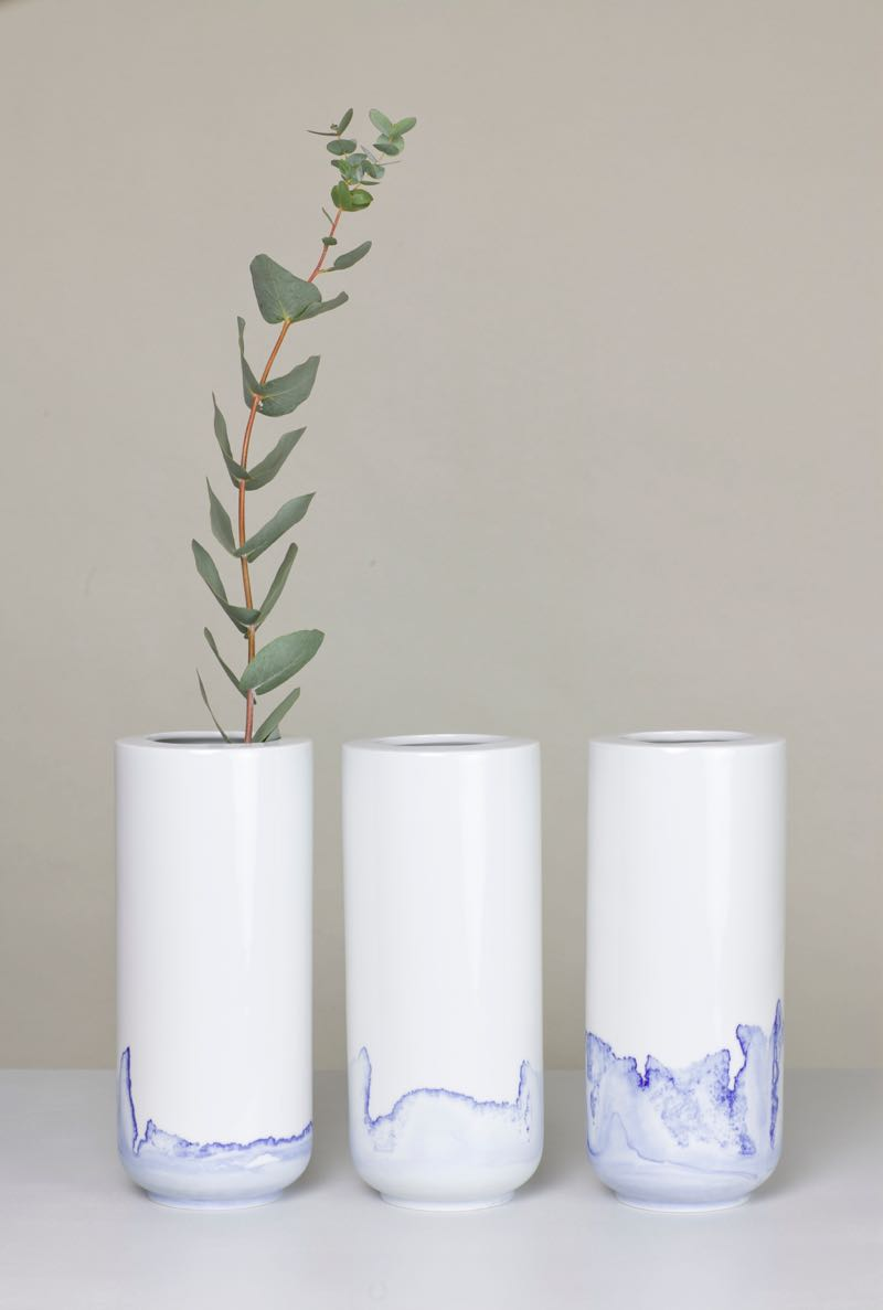 Anna Badur's 'Tidal' vases Photo by Simon Beckmann.