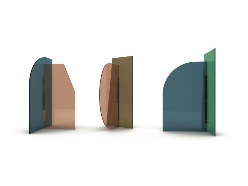 These might look like table top objects but 'Vela' is actually a series of full sized room dividers by Bernhardt & Vella for Arflex.