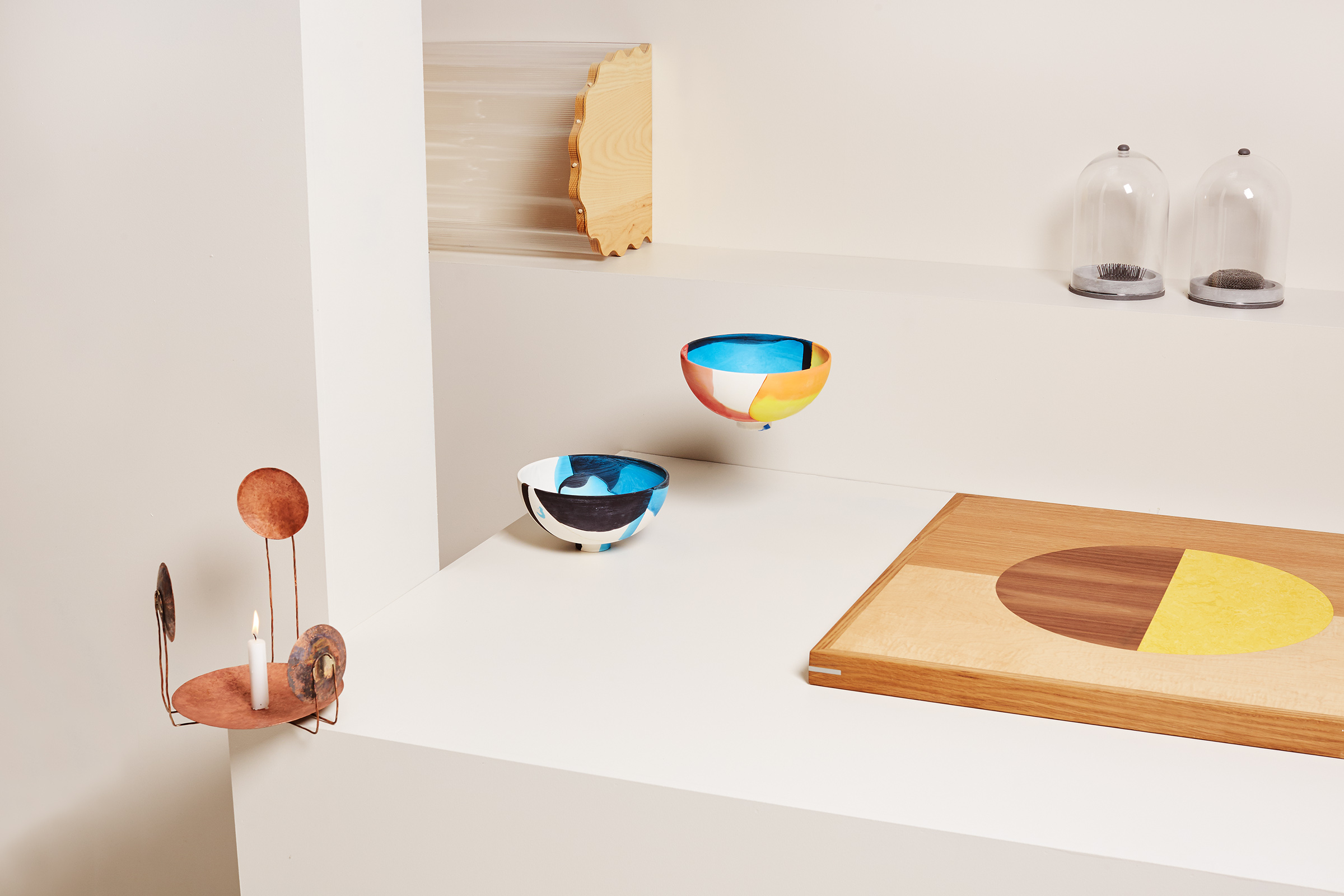 Another view of objects from 1-OK CLUB LIVE. Photography Elise Wilken, styling Nat Turnbull.