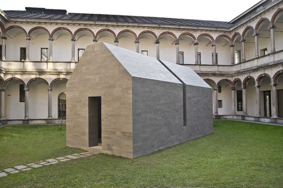 The House of  Stone  installation by John Pawson for Salvatori shown at the Think Tank exhibition, Milan Design Week 2010.