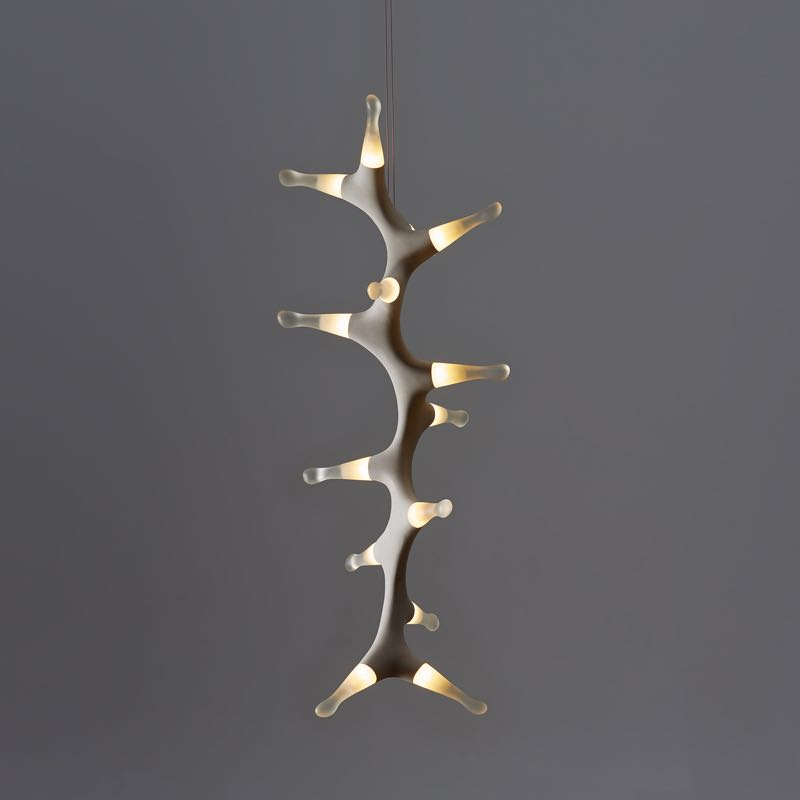 A vertical form of Marc Pacal's 'Leefy See Dragon' pendant light.