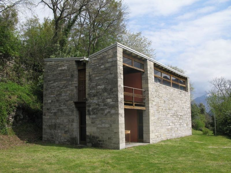 The smallest of the three artist residences designed by Pietro Lingeri,House B.