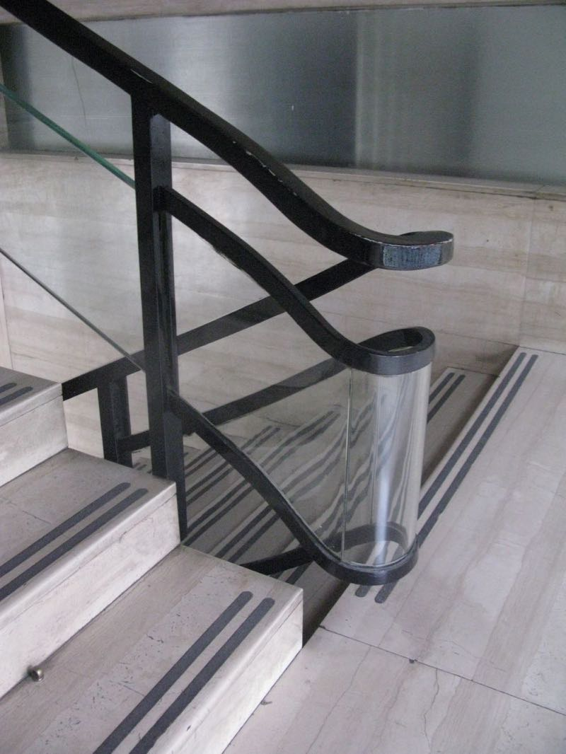 Stairs within the Casa del Fascio building by Terragni and Lingeri 1936.