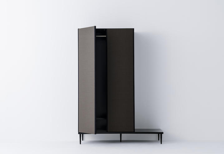 The storage system found in Moving Tatami by José Lévy utilises a low plinth as commonly found in traditional Asian furniture - a feature that Charlotte Perriand took influence from in her work.