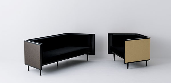 The sofa and armchair from the 'Moving Tatami' collection by Jose Levy for Daiken.