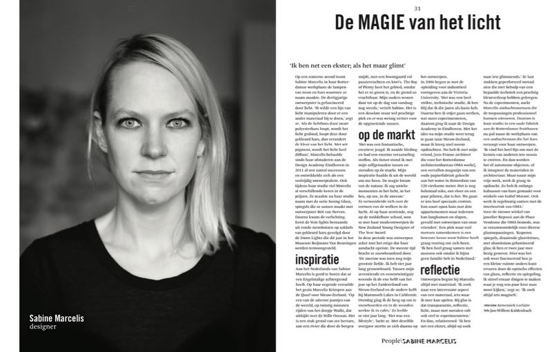 The Sabine Marcelis spread in issue 1 of Woth showing the mix of simple B&W portraits and text with features with more overt flamboyance.