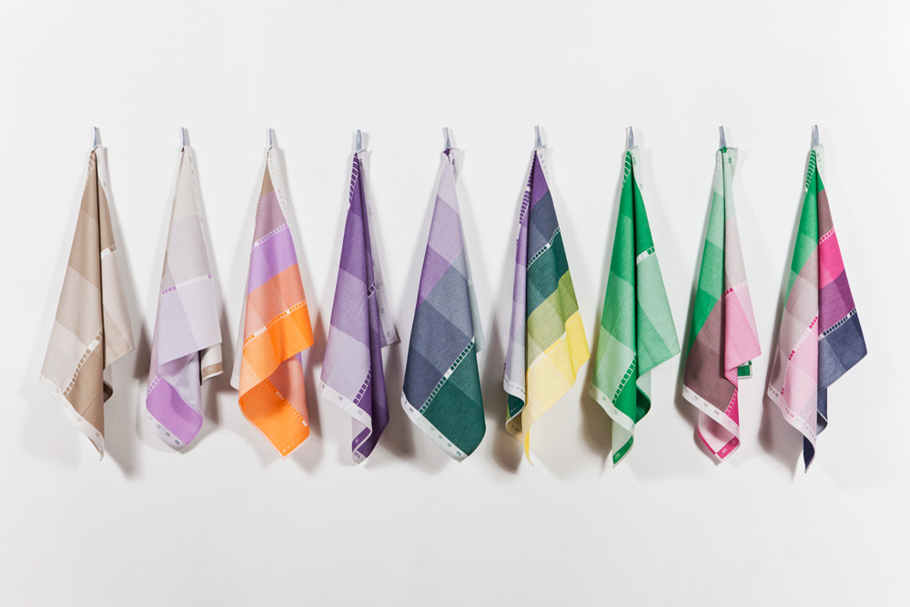 The  Index Collection  deconstructs the colours used in woven textiles. The collection was produced by Raw Colour in 2012 and is part of the  Blend  exhibition currently on at Aram Gallery.
