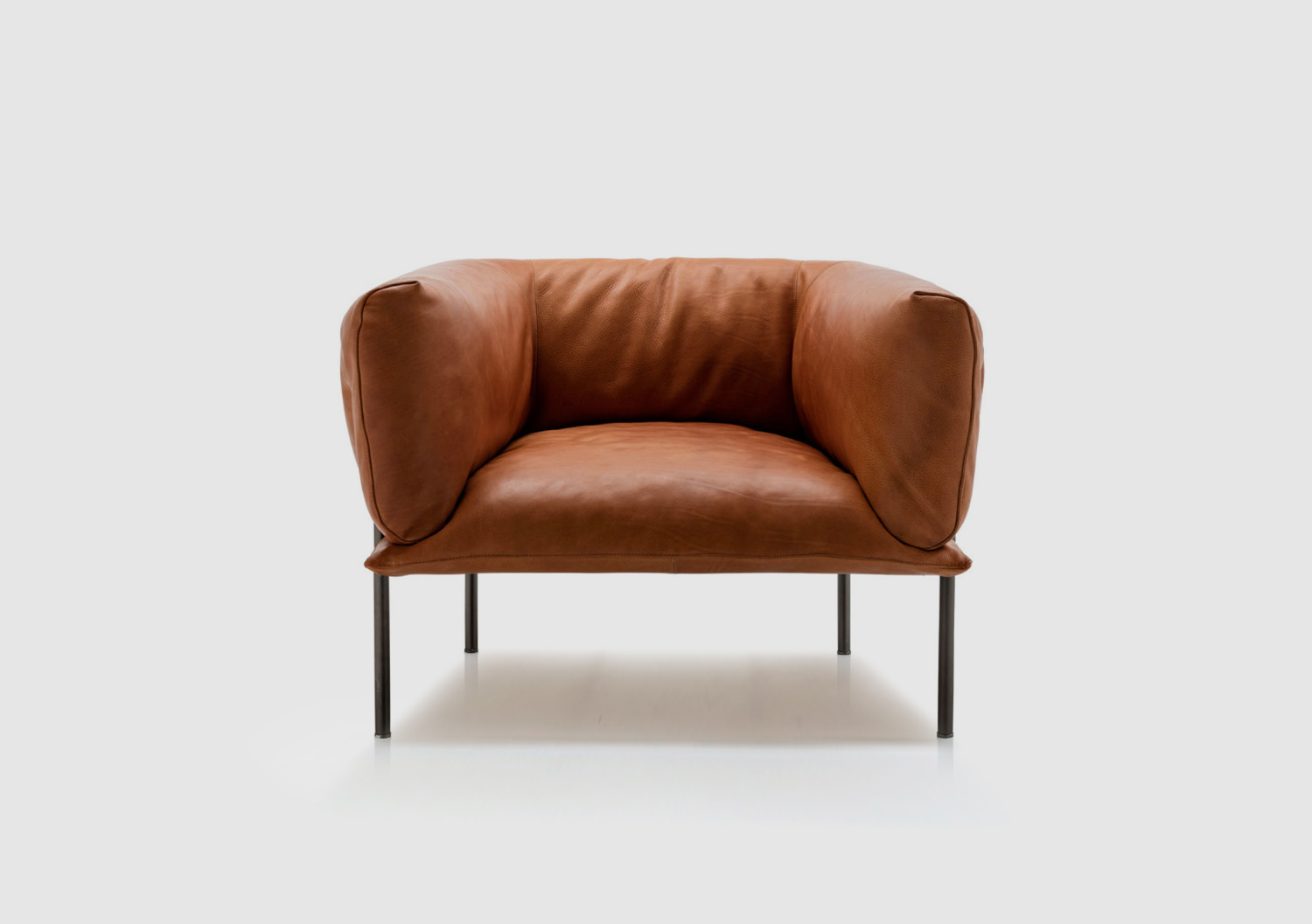 The 'Rondo' armchair by Lucy Kurrein for Trentino Collaborations, manufactured by Molinari.