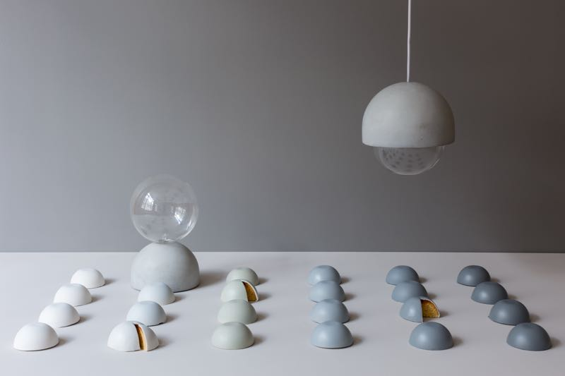 Studio Vit's 'Cast' concrete lights for Petite Friture (and 23 expertly painted oranges).