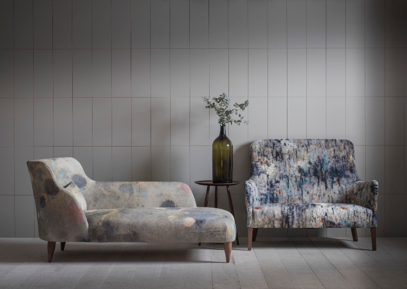 A Pinch X Martyn Thompson Studio collaboration showed Pinch seating designs like the Pendel sofa and Leta chaise upholstered in amazing fabrics by the NY based photographer/designer.