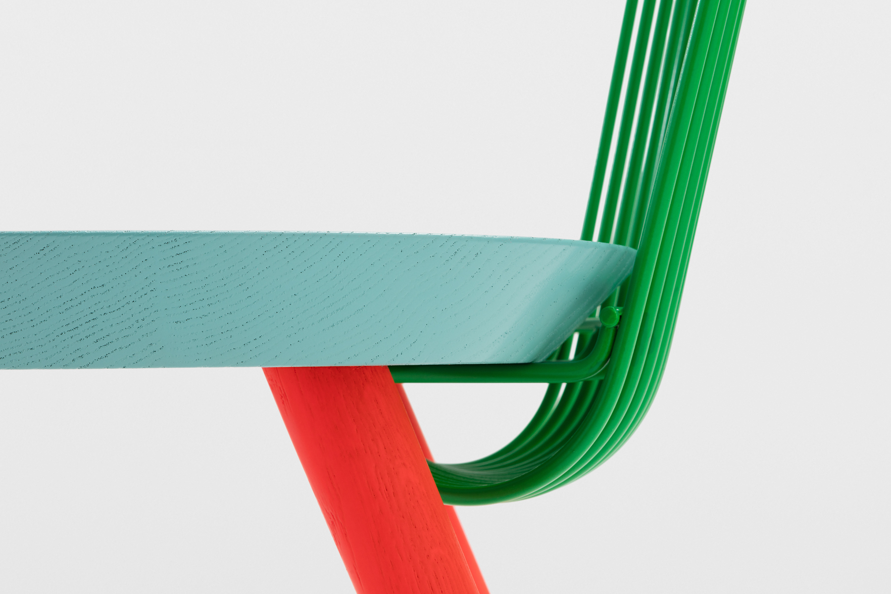 A close-up of H Furniture's 'WW' chair.
