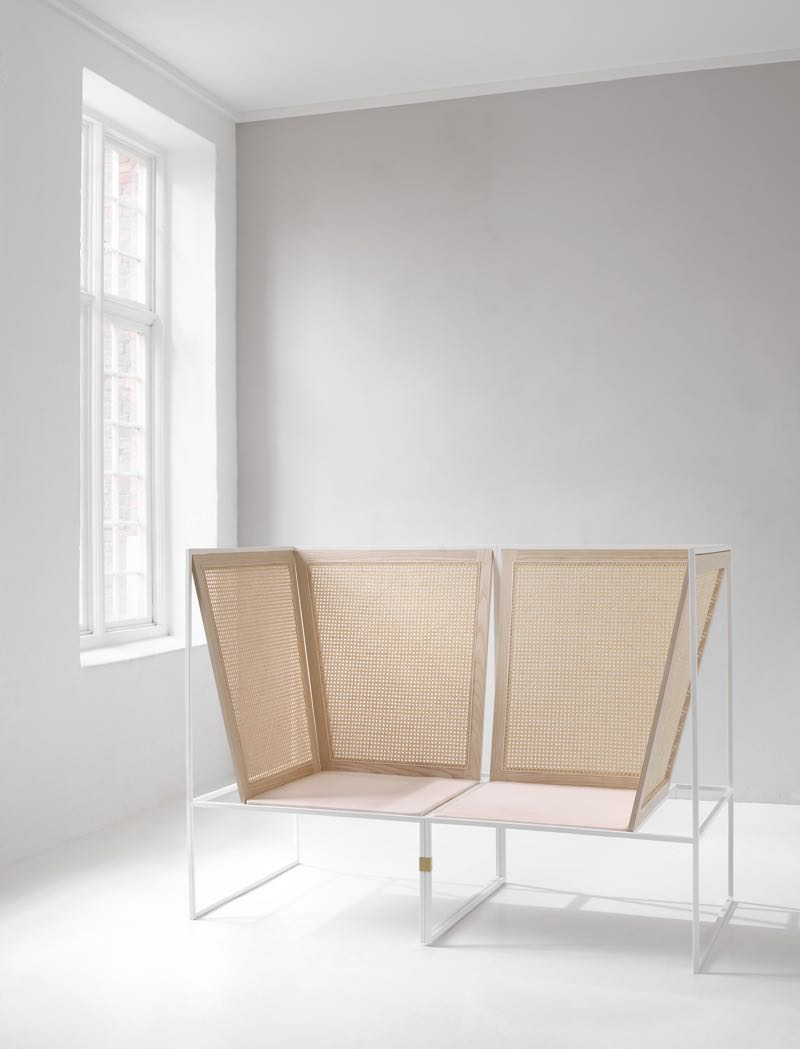 Camilla Aggestrup's #80 sofa (white) is literally two #80 armchairs linked together.