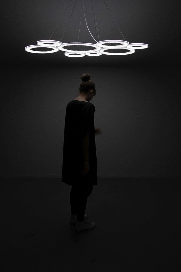 The 'OTI Dark Matter' pendant by Studio Truly Truly.