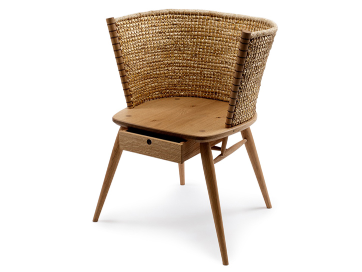 The Brogan chair - a Gareth Neal and Kevin Gauld collaboration for The New Craftsmen.