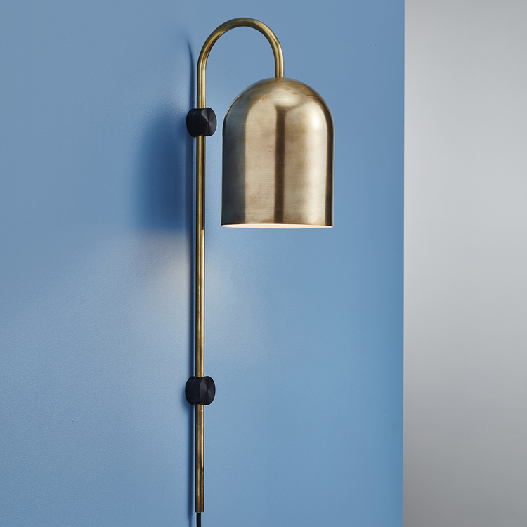 'Duomo' wall light in whiskey aged brass by Anaesthetic.