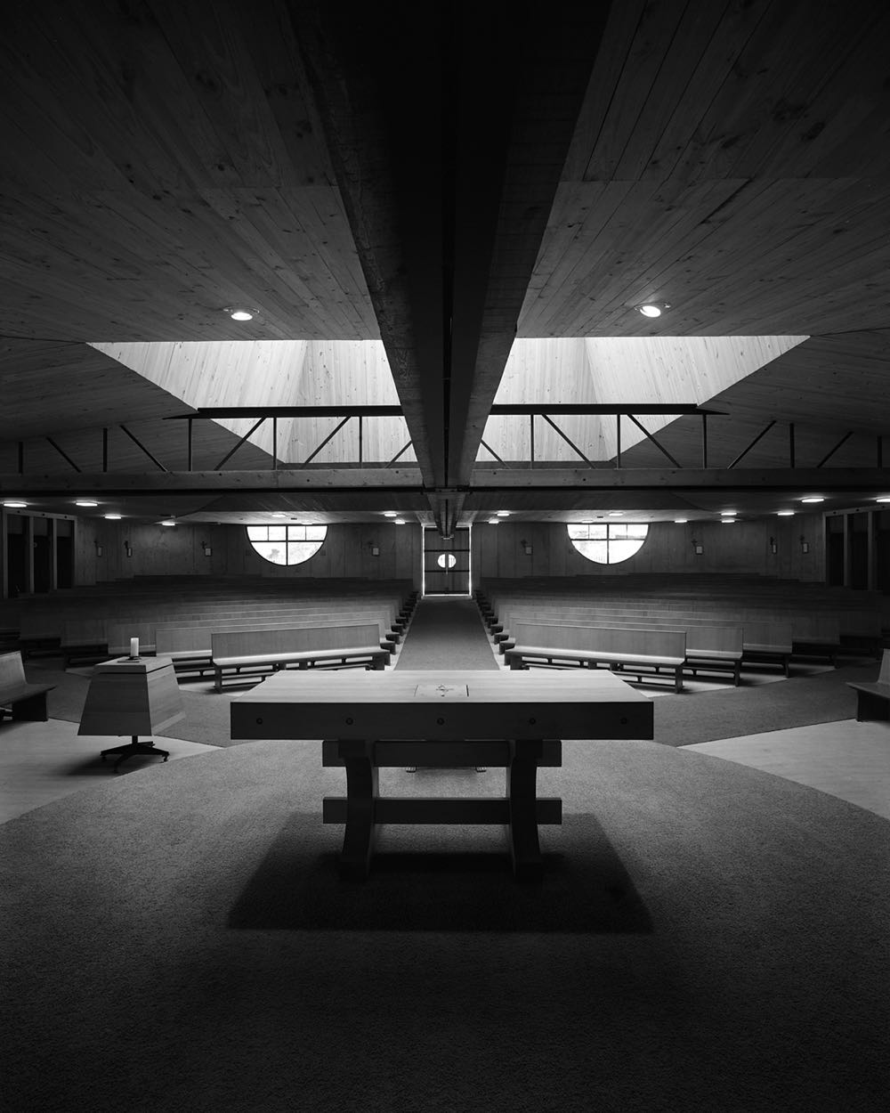 Church of St Anthony's designed by Enrico Taglietti in Marsfield Sydney (1968). Photograph by Max Dupain.