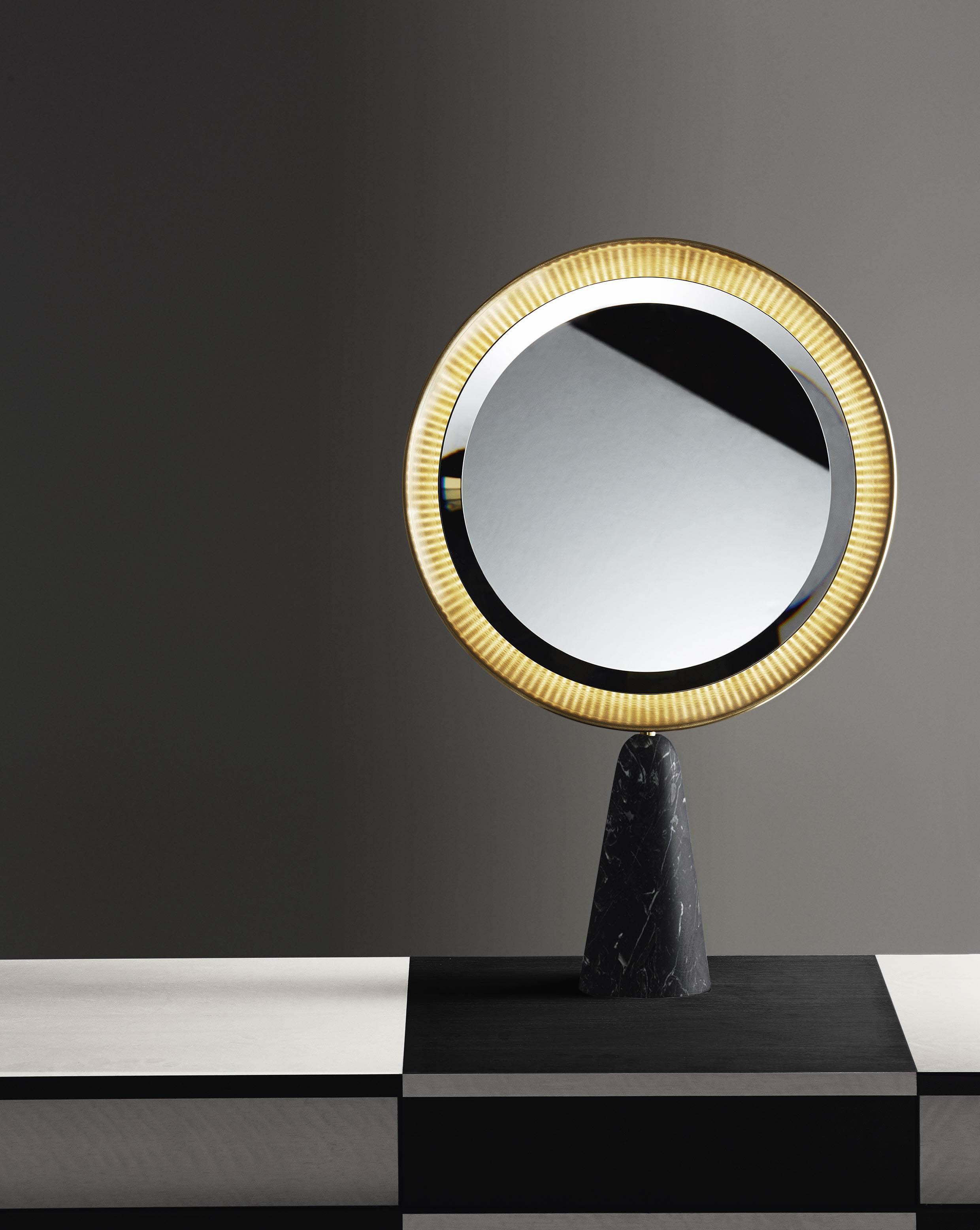 Pietro Russo's 'Selene' mirror for Gallotti & Radice.