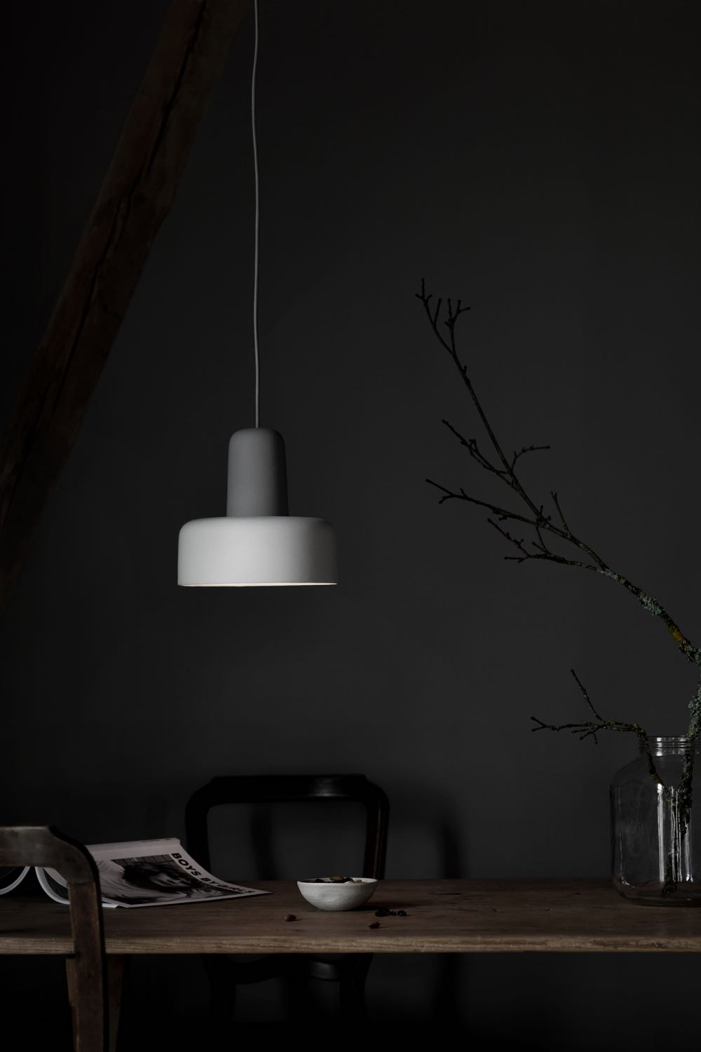 The 'Meld' light by Noidoi Studio for Northern Lighting. The lamp is made from Stoneware glazed in two colours.