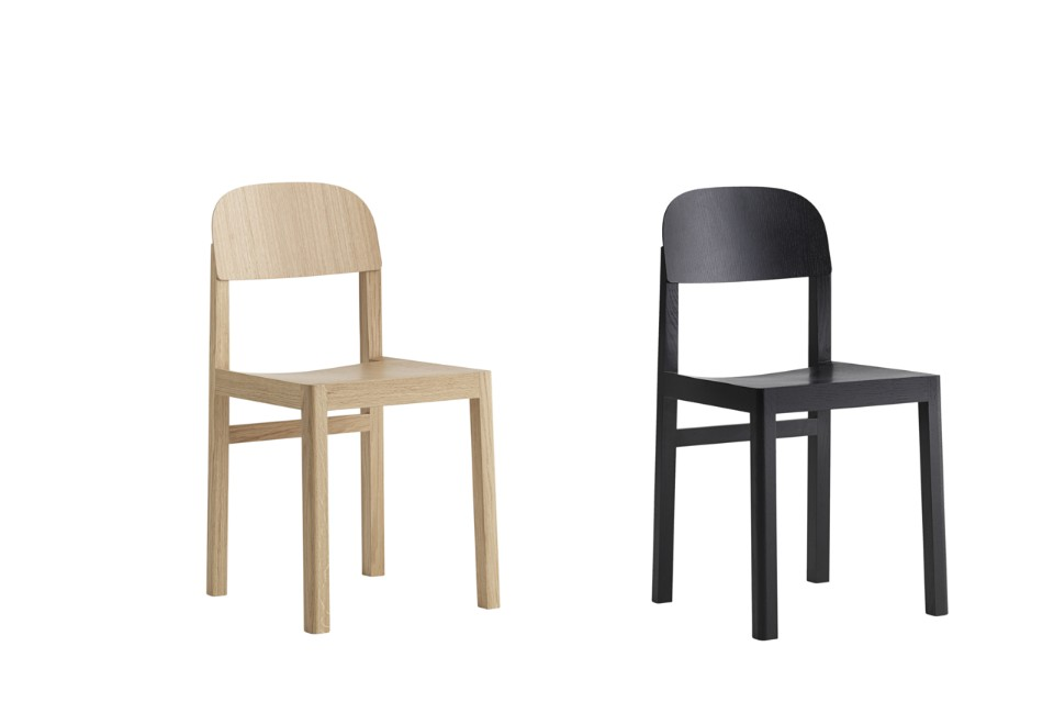 Muuto's 'Workshop' chair by Cecilie Manz - an archetypal 'chair' look but ever so cute.