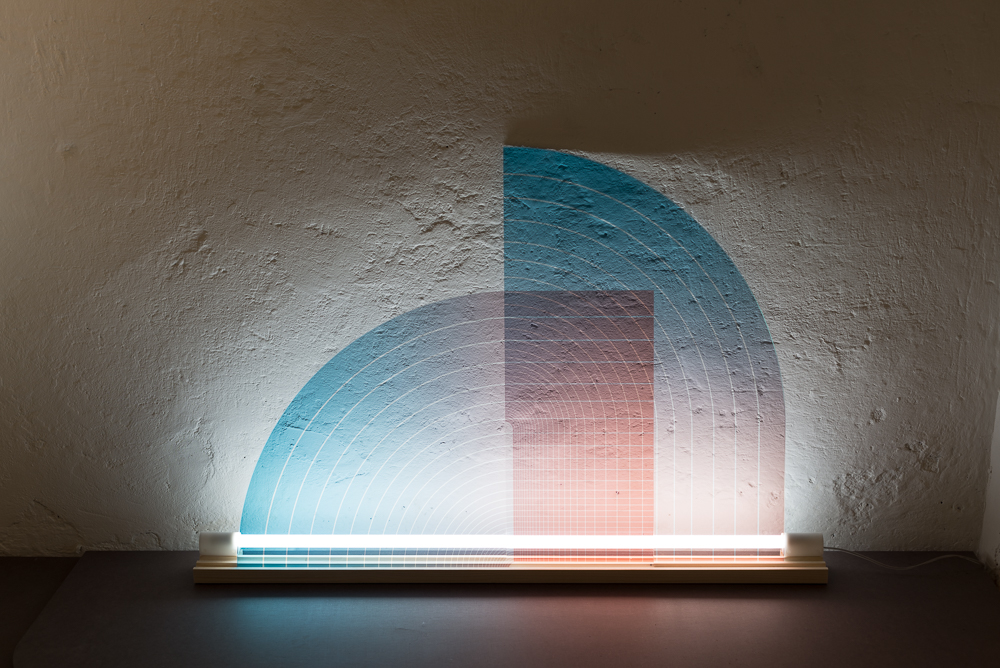 Studio Thier & van Daalen's new Infinity light - simple graphic ovelays with an LED tube.