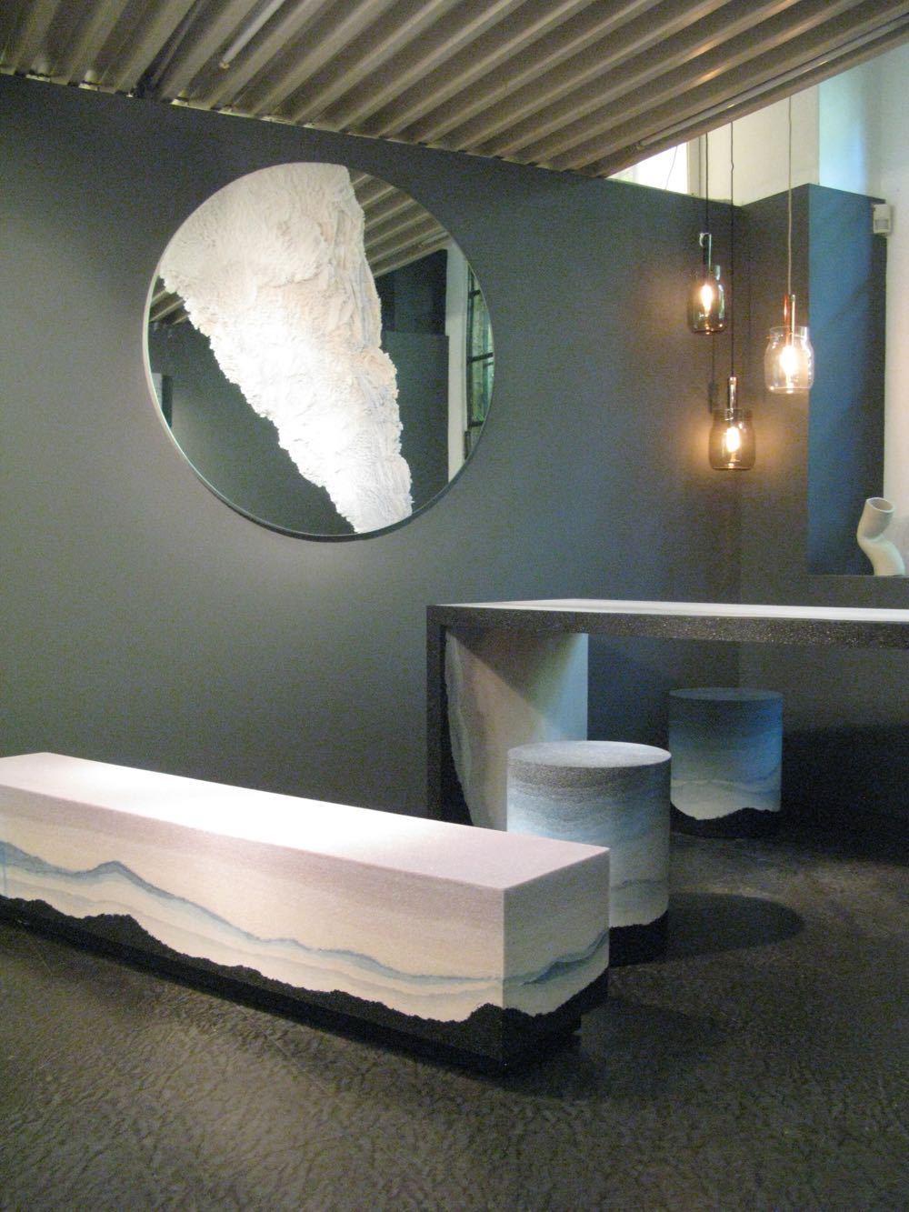 Pieces from the  Escape  and  Drift  collections by Brooklyn based designer Fernando Mastrangelo at Rossana Orlandi.
