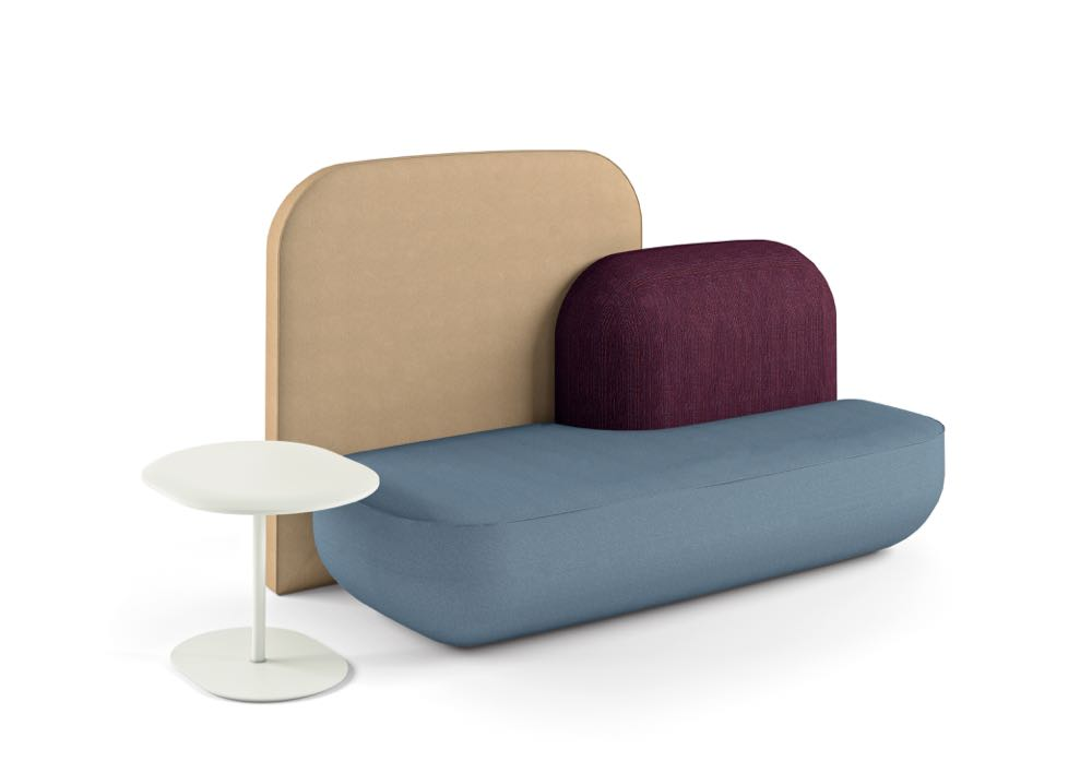 The 'Okome' range from Alias offers a block colour concept in soft rounded shapes.