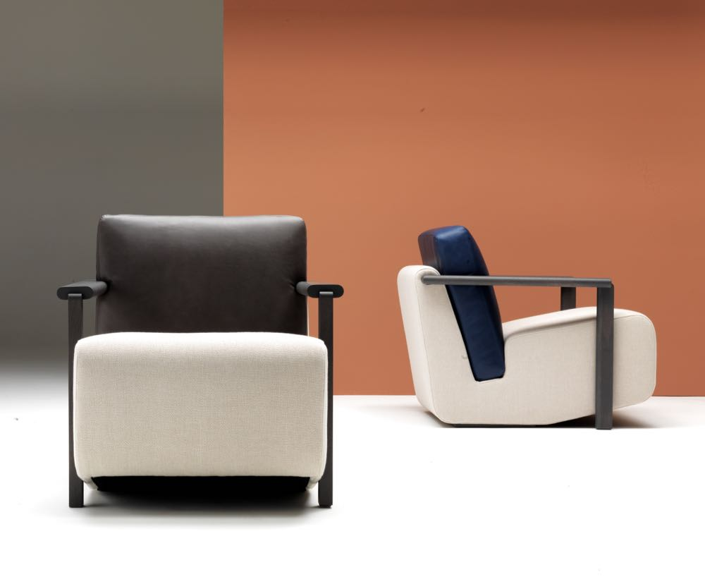 Hayman Editions' new 'Franck' armchair by Charles Kalpakian presents an extremely different look to most other designs launched during Milan Design Week. Strangely conservative and yet quite directional at the same time.....How is this possible?