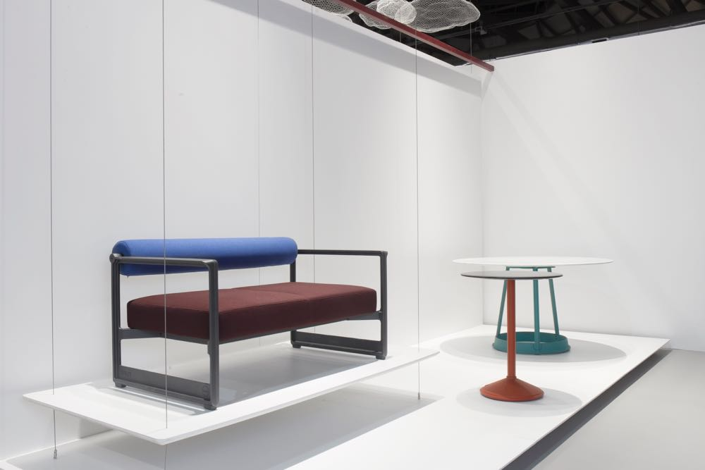 The Magis stand at Salone featuring the new 'Brut' sofa by Konstantin Grcic. You've got to love the beautiful casting.