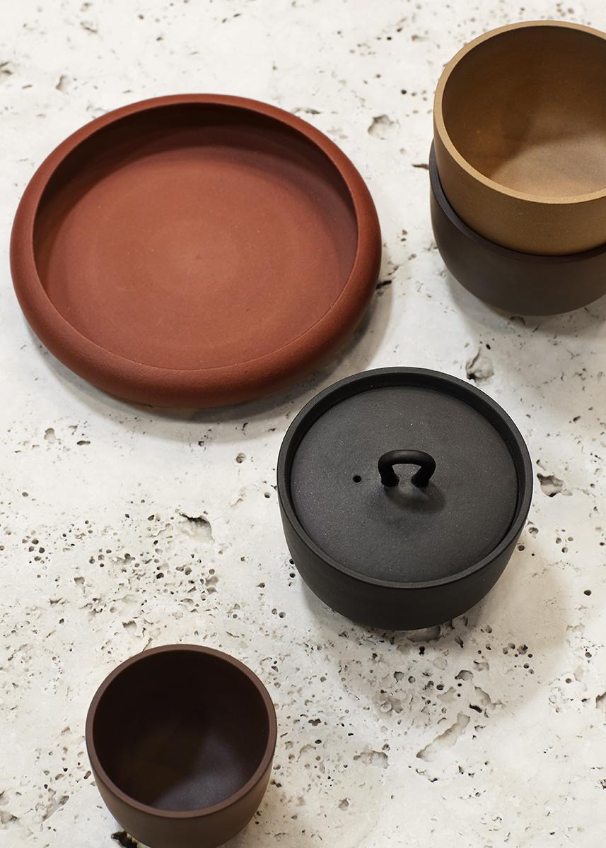 Neri & Hu's 'Zishu' ceramics on display at the SeehoSu stand at Denfair 2017.