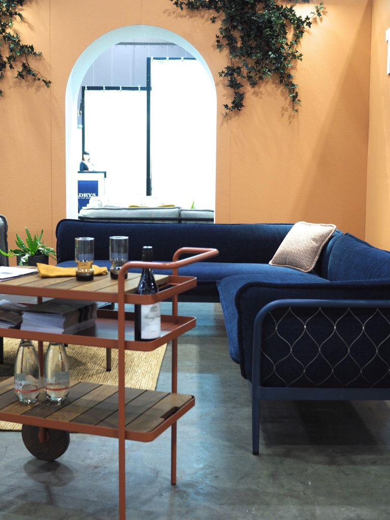 The Tait stand featured a new collection of outdoor furniture by Adam Goodrum called 'Trace'.