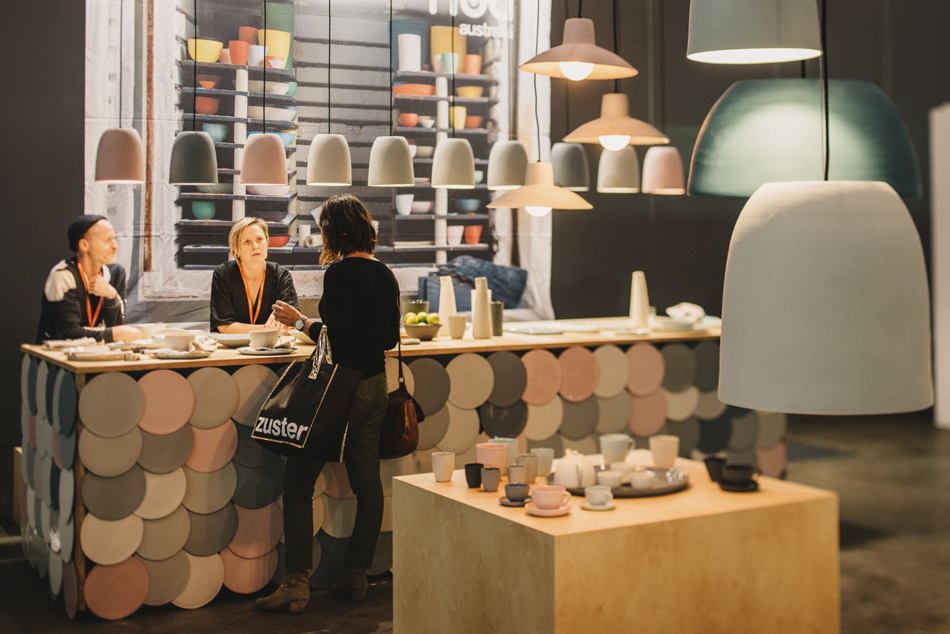 The Mud stand was a standout, showcasing not only the brand's wonderful ceramic tableware and lighting pieces but the extent of their exciting colour palette.