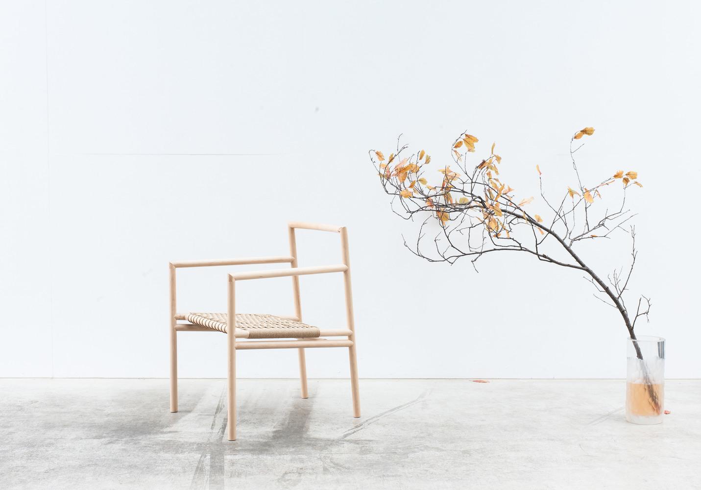 Andrew Carvolth's 'Ainsworth' chair - skeletal Scandinavian Japanese minimalism.