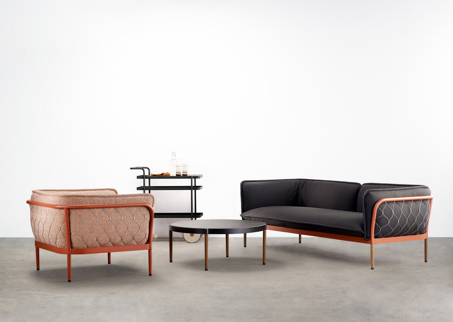 The 'Trace' outdoor collection by Adam Goodrum for Tait.