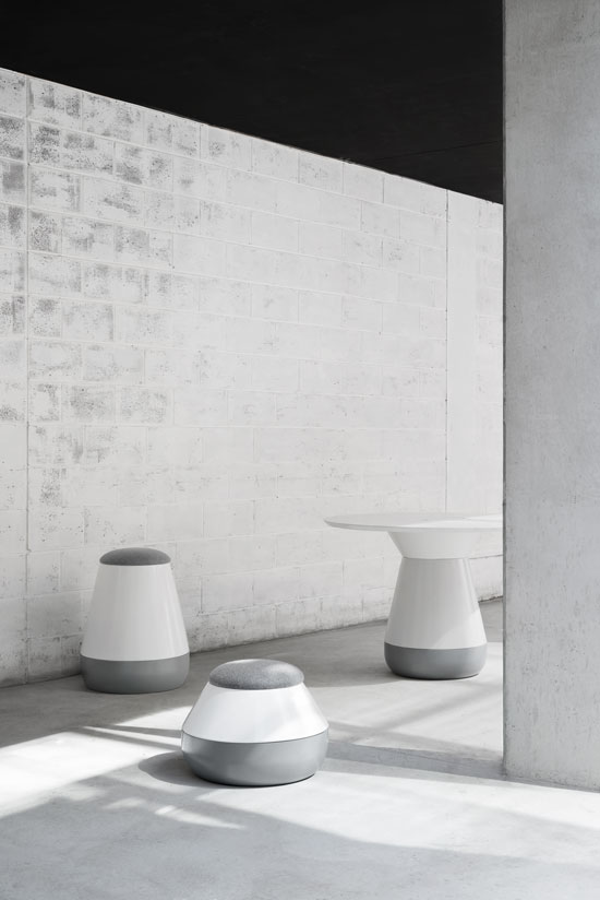 The 'Bulbo' collection of tables and stools by Gavin Harris for Nau.