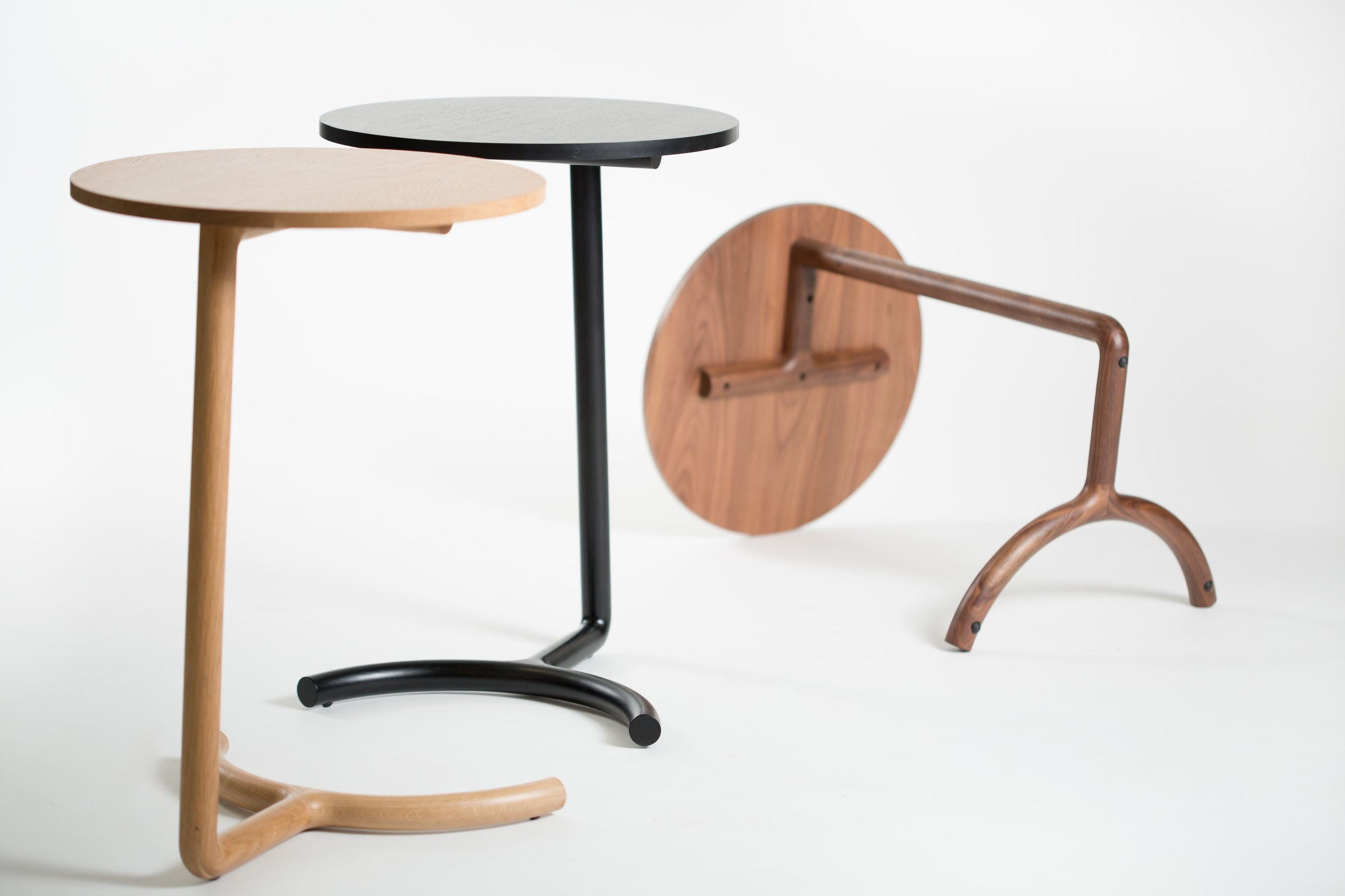 Nicholas Fuller's 'Cantilever' tables have gone from limited edition pieces shown last year at Craft ACT to going into production and winning the Denfair Front / Centre Emerging Designer Award.