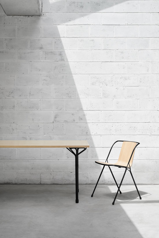 Adam Cornish's 'Strand' chair and table for Nau. Bent wire and moulded plywood a tried and tested formula but very pretty and comfortable to boot.
