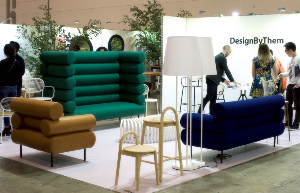 The DesignbyThem stand featuring new 'Cabin' sofas.