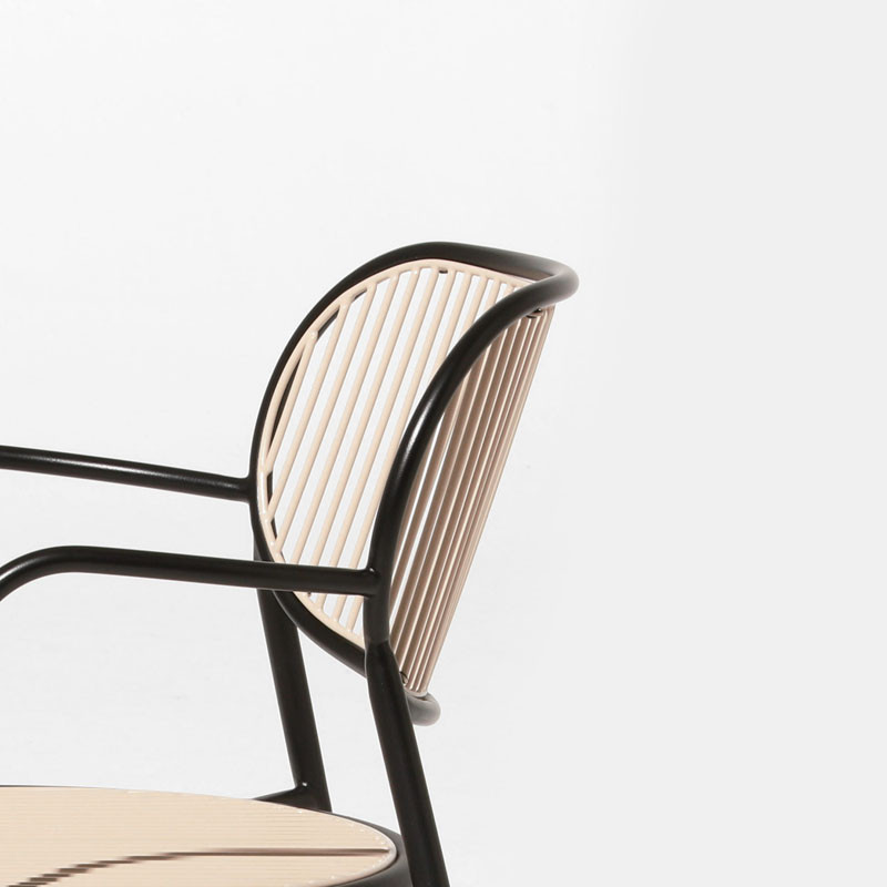 Close up of the 'Piper' chair by Sarah Gibson and Nick Karlovasitis for DesignbyThem.