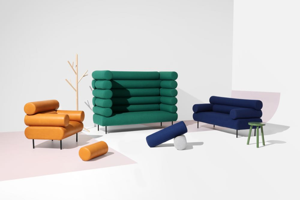 The 'Cabin' sofas and armchair by Sarah Gibson and Nick Karlovasitis for DesignbyThem. Photograph by Pete Daly.