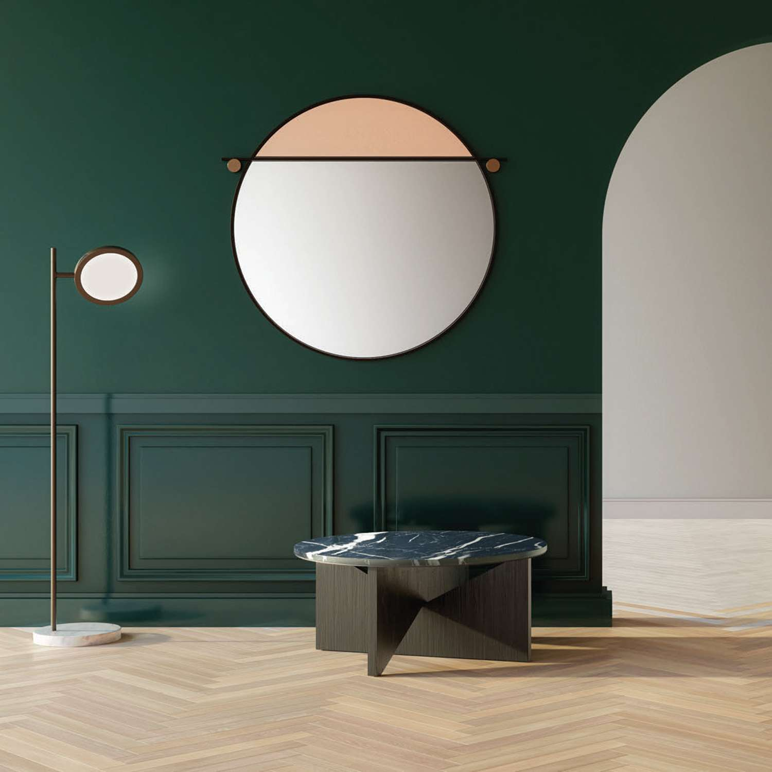 American brand Matter Made released the extremely graphic range of 'Abal' mirrors designed by Visibility.