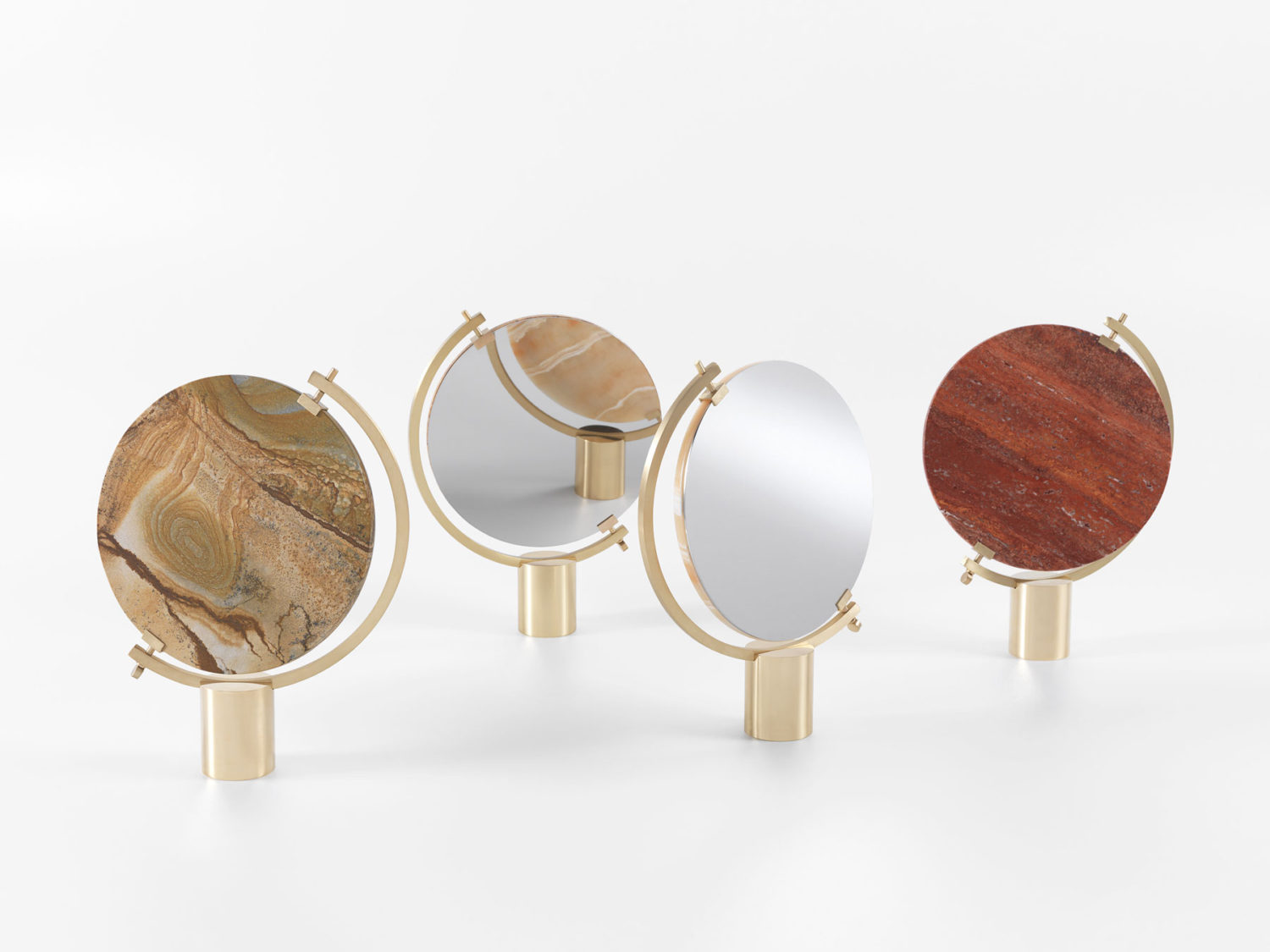 'Naia' by CTRLZAK for JCP. The combination of exotic stone, brass and mirror is hard to resist.