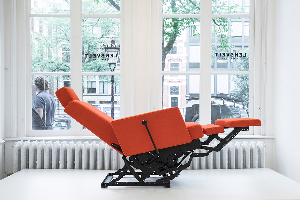 The 'Lazy Modernist' chair by Atelier Van Lieshout.