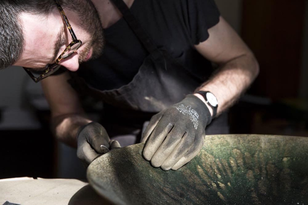 Verheyden at work in his Genk studio.