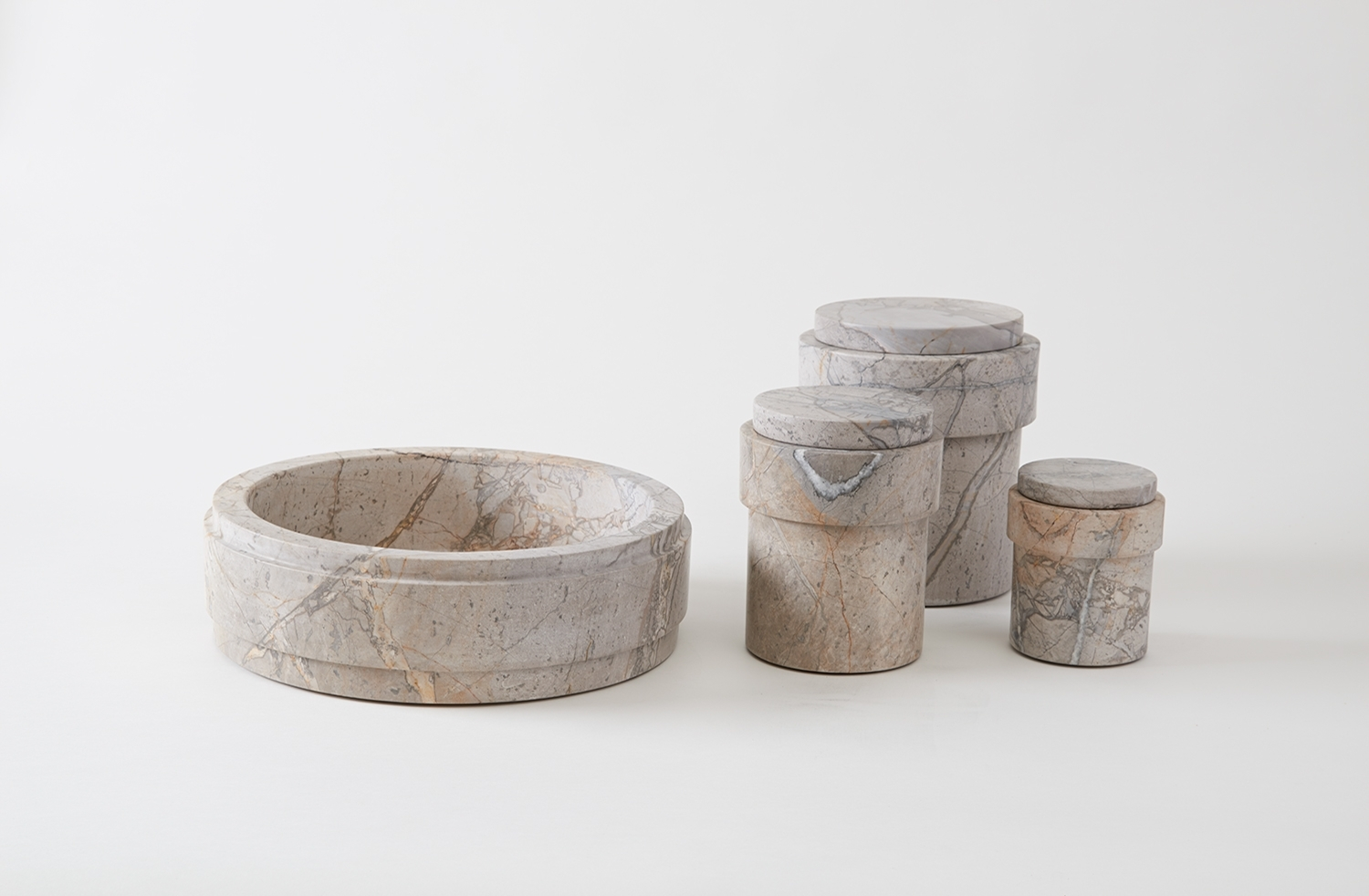 The  Kitchen Collection  in Grigio Antico Chiaro marble by Michael Verheyden for MARCH.