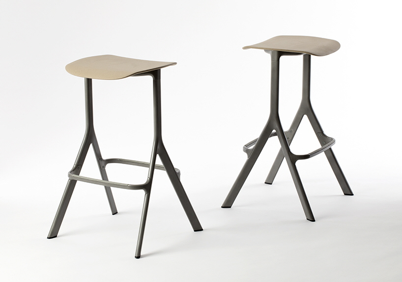 The 'AXYL' bar stool by Benjamin Hubert and LAYER for Allermuir.